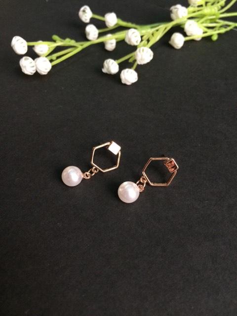 Pearl small drop earrings