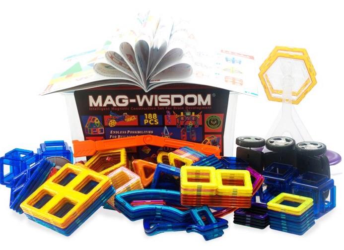 188 ชิ้น ตัวต่อแม่เหล็ก ของ MAG-WISDOM