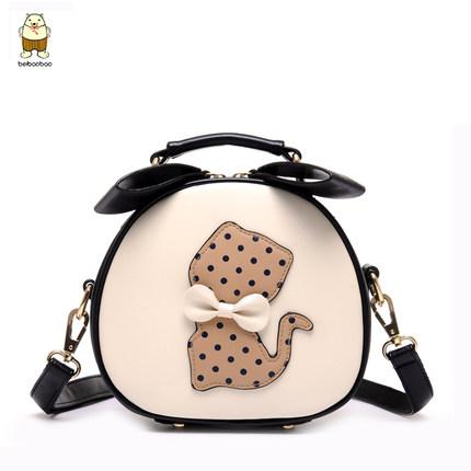 กระเป๋าสะพายทรงกลมลายแมว Beibaobao แท้ 💯%