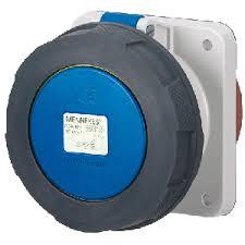 ปลั๊กตัวเมียฝัง แบบตรง ชนิดกันน้ำ IP67 63Amp ขั้ว 2+E 230V