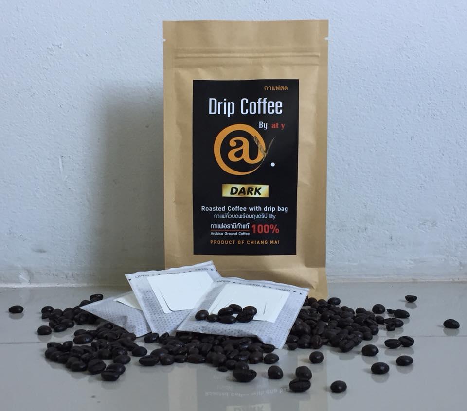 ดริปกาแฟคั่วเข้ม 10 x 8 g. @y Drip Coffee Dark Roast 10 x 8 g.