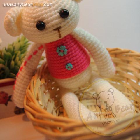 ตุ๊กตาหมีถักขนาด 18 cm. - PiPo (white)