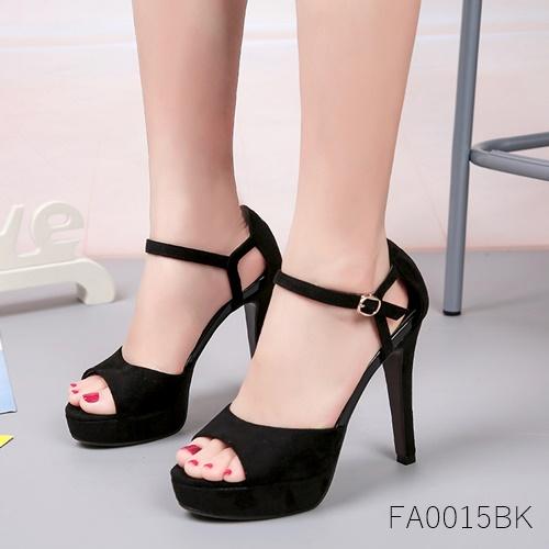 (พร้อมส่ง)รองเท้าส้นเตารีด แฟชั่น ราคาถูก มีไซด์ 36