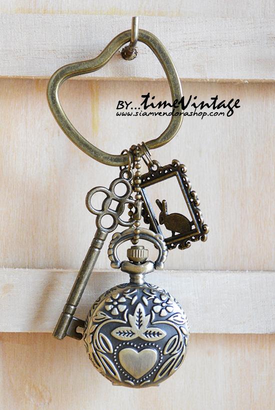 นาฬิกาพวงกุญแจลายน่ารักๆ Bunny Frame (พร้อมส่ง)