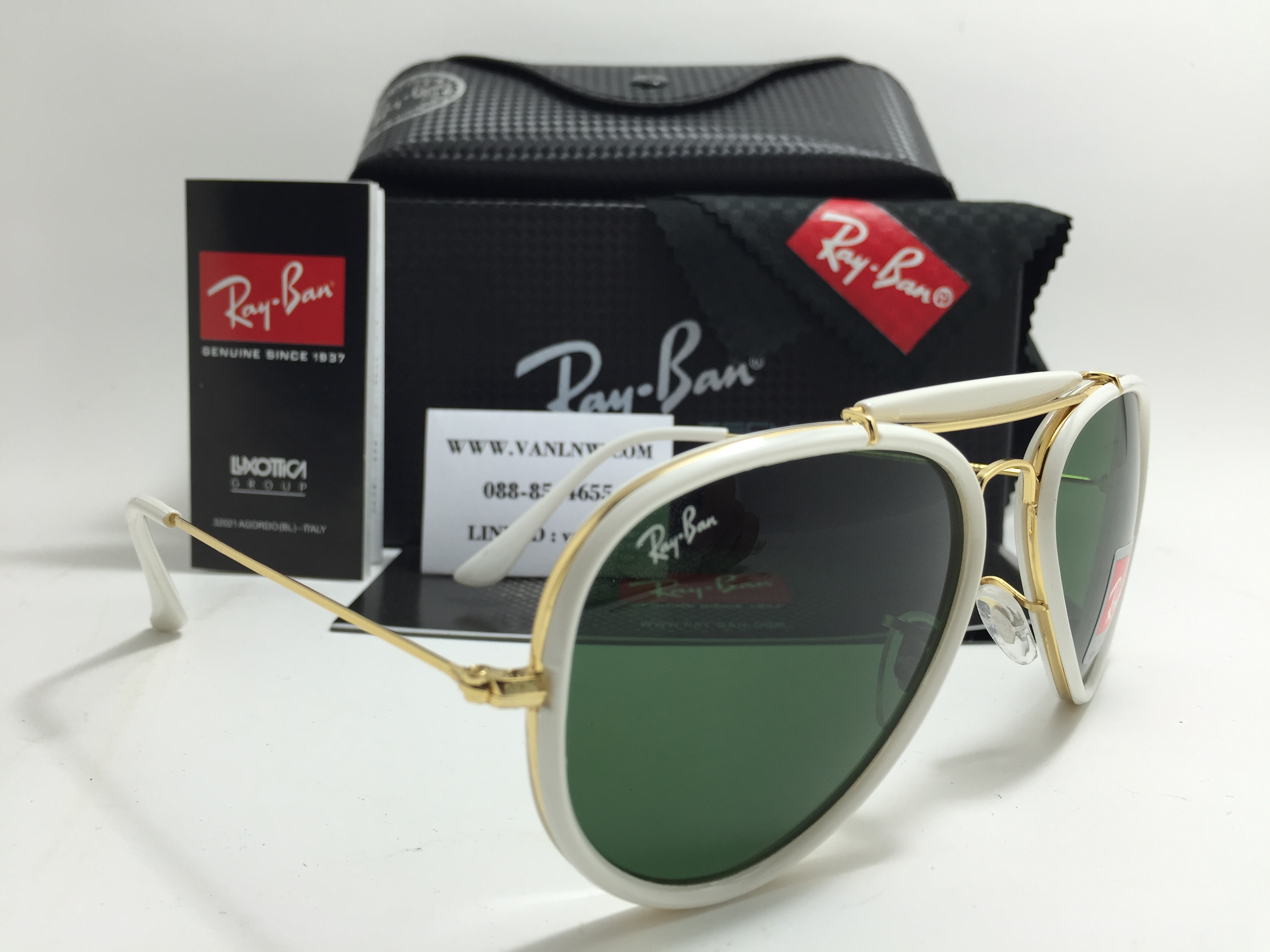 RB 3428 Aviator Outdoor Road Spirit 58-14-135 <ขาว>