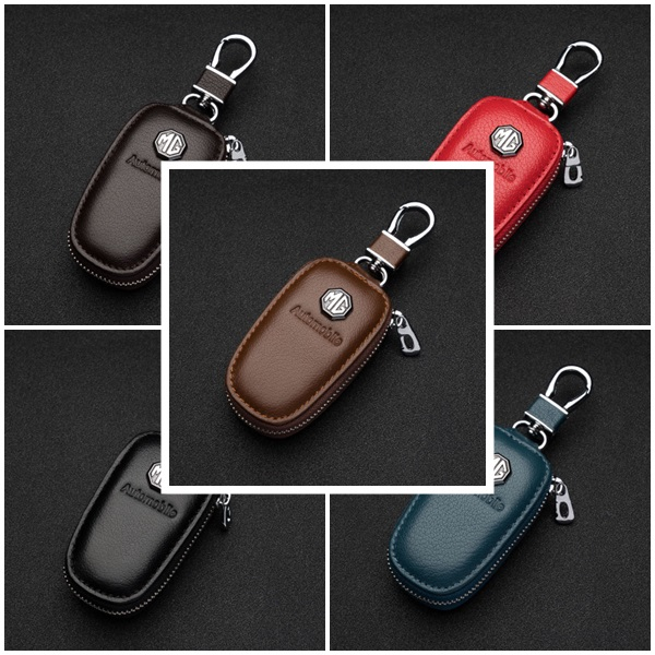(672-001)ที่ใส่กุญแจรถยอดฮิต MG3 MG5 MG6 MG7 MGGT MGGS สุดหรูเทกเจอร์หนังทรงสวยๆ