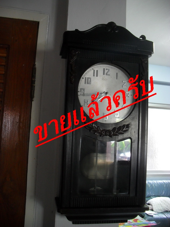 ขายนาฬิกาแขวนญี่ปุ่น2ลาน กระจกเจีย hibino