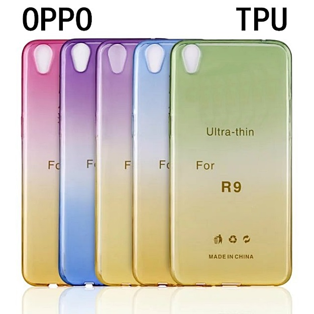 (291-020)เคสมือถือ Case OPPO R9 Plus เคสนิ่มใสสไตล์ทูโทน