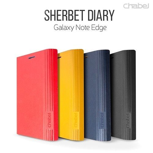 SHERBET : Diary Case PU Leather Card Slot Kick Stand For Galaxy Note Edge