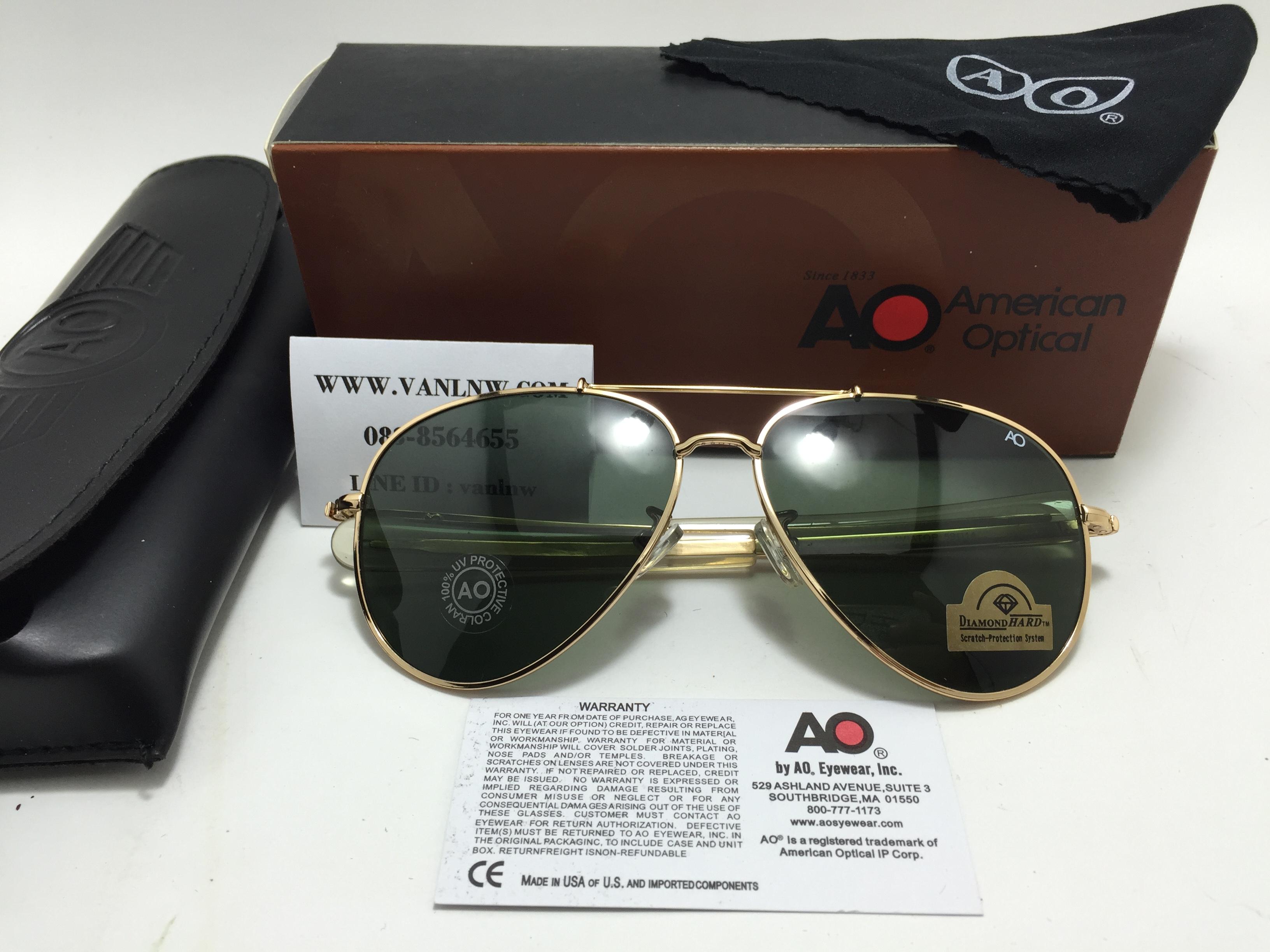แว่น ao skymaster aviator (china) ทอง 59-14
