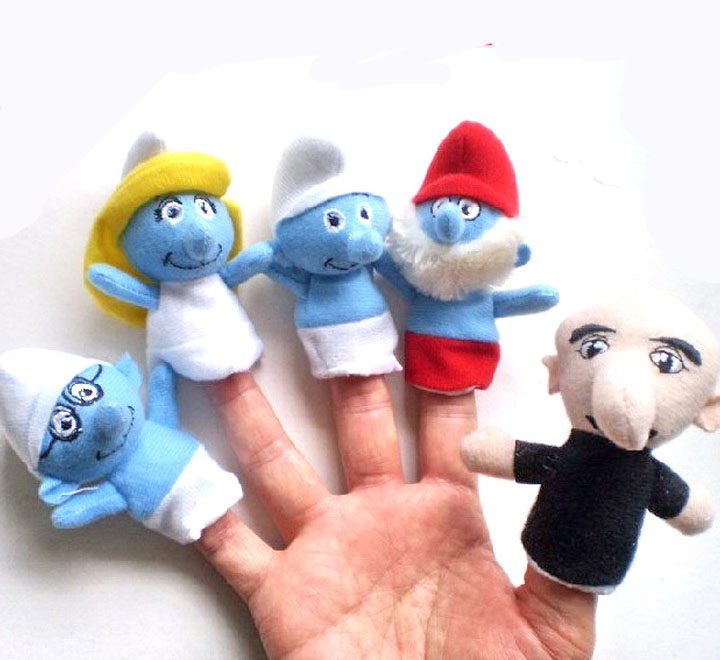 TO-009 ตุ๊กตานิ้วมือ ชุด Smurfs (5 ตัว)