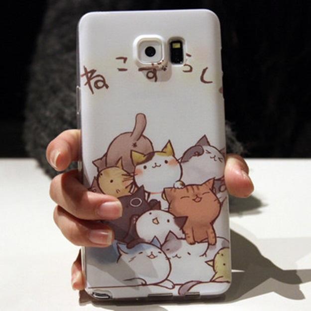 (พร้อมส่ง)เคสมือถือซัมซุง Case Samsung S6 Edge Plus เคสนิ่มใสพื้นหลังลายสวยๆน่ารักๆ