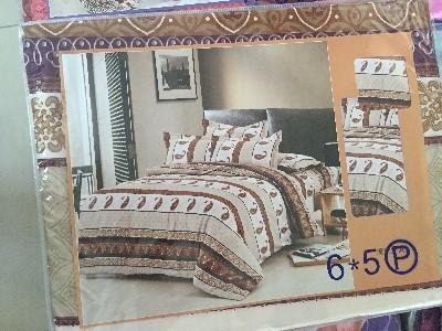 ผ้าปูที่นอน คละลาย เกรดB 6ฟุต 5ชิ้น คละลาย ชุดละ 140 บาท ส่ง 40ชุด