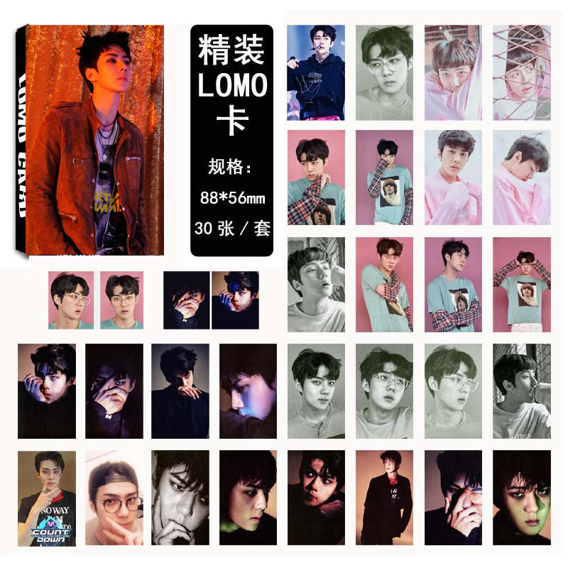 Lomo card set EXO EX'ACT - SEHUN (30pc)