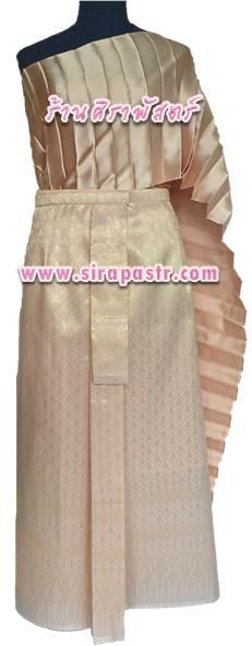 """ชุดไทย A2 (สไบโบราณ+ผ้าถุงฯเอวใส่ได้ถึง 30"""") *รายละเอียดในหน้าสินค้า"""