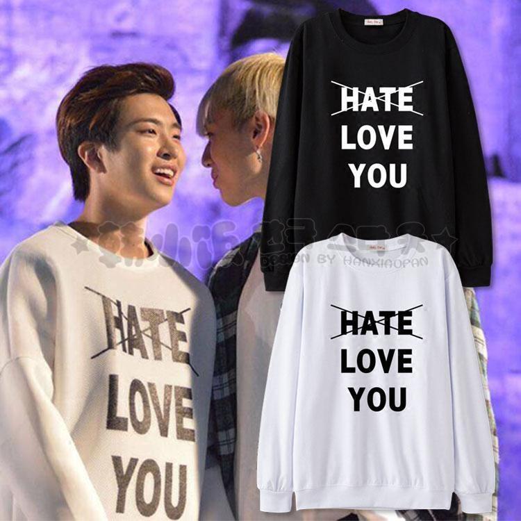 เสื้อแขนยาว HATE LOVE YOU Sty.Youngjae -ระบุสี/ไซต์-