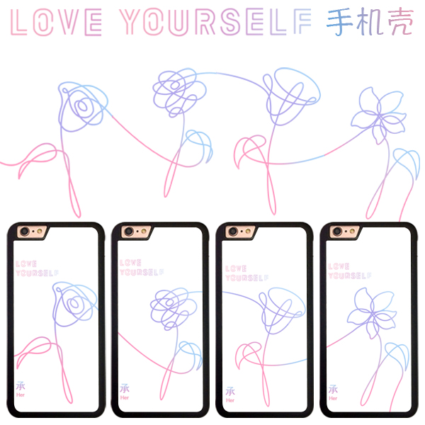 เคสโทรศัพท์ BTS LOVE YOURSELE (Flower)-ระบุรุ่น/หมายเลข-