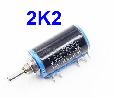WXD3-13 1K ohm 2W Watts 4mm Round Shaft Rotary Wire Wound Potentiometer