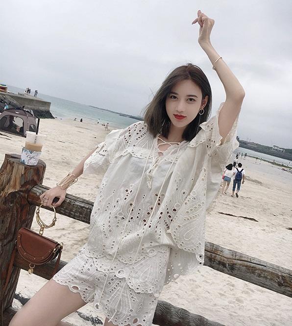 *Pre Order*ชุดผ้าฝ้าย 2 ชิ้น Zhang Beibei ibel 2018 size S,M,L
