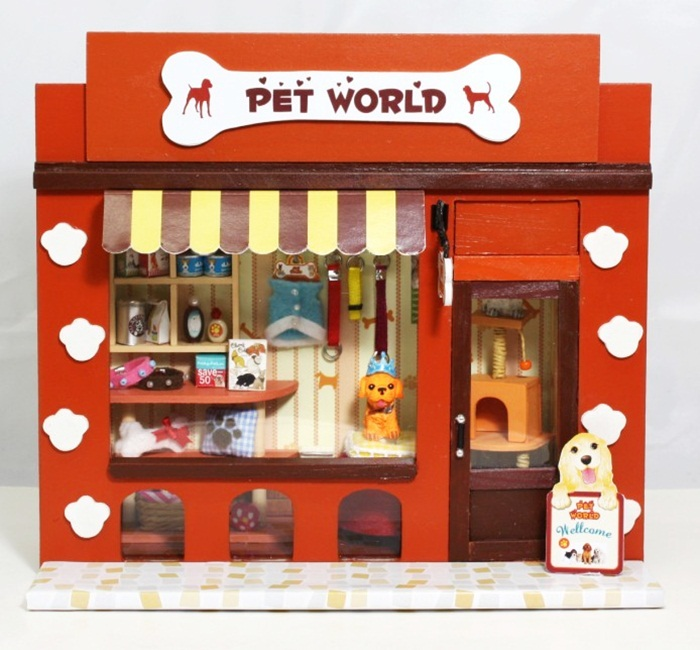 ฉาก DIY Pet World.