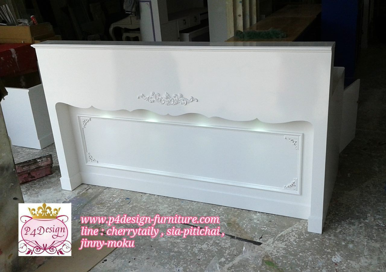 เคาน์เตอร์วินเทจ สีขาว เจ้าหญิง สำหรับร้านค้า ย180-200