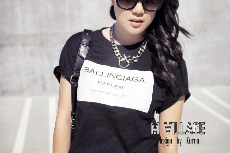 เสื้อยืดตัวใหญ่ สกรีนลาย ballinciaga harem t-shirt ผ้าคอตตอนเนื้อดีใสสบายค่ะ มา 2 สี ขาวและดำ