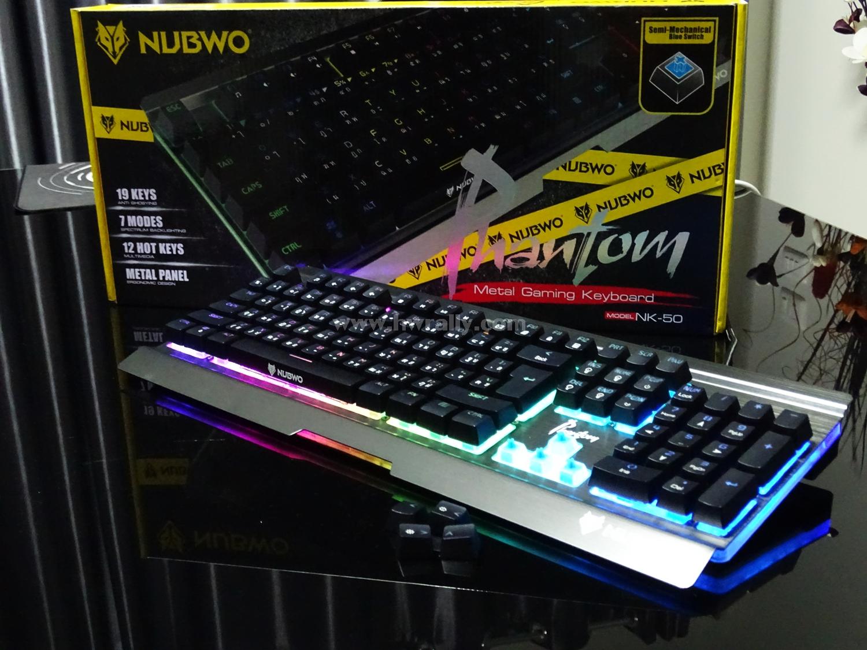 Nubwo Phantom Nk-50 Semi Mechanical Gaming Keyboard