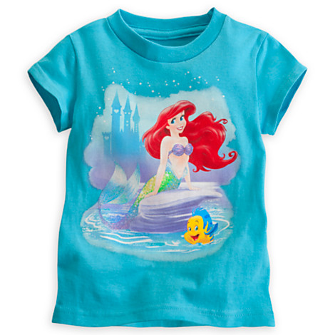 z Ariel and Flounder Tee for Girls (12-18month)