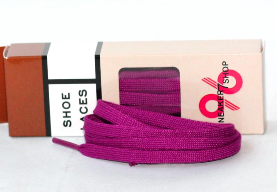 สายเชือกรองเท้า สีม่วง ถักละเอียด เหมาะสำหรับ ผ้าใบ รองเท้าหนัง อื่นๆ ยาว 106 CM (2 เส้น)
