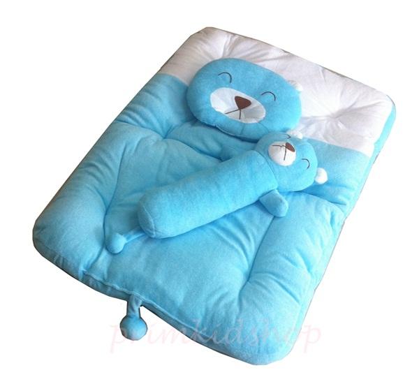 ที่นอนเด็กผ้าขนหนู PAPA พร้อมหมอน 2 ใบ