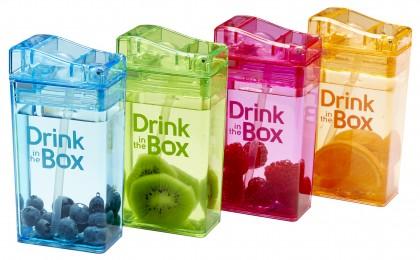 Drink in the Box ถ้วยหลอดดูดสุญญากาศ รูปทรงกล่อง