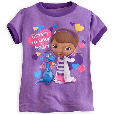 Z Doc McStuffins Ringer Disney Tee for Girls ของแท้ นำเข้าจากอเมริกา (Size: 5/6)