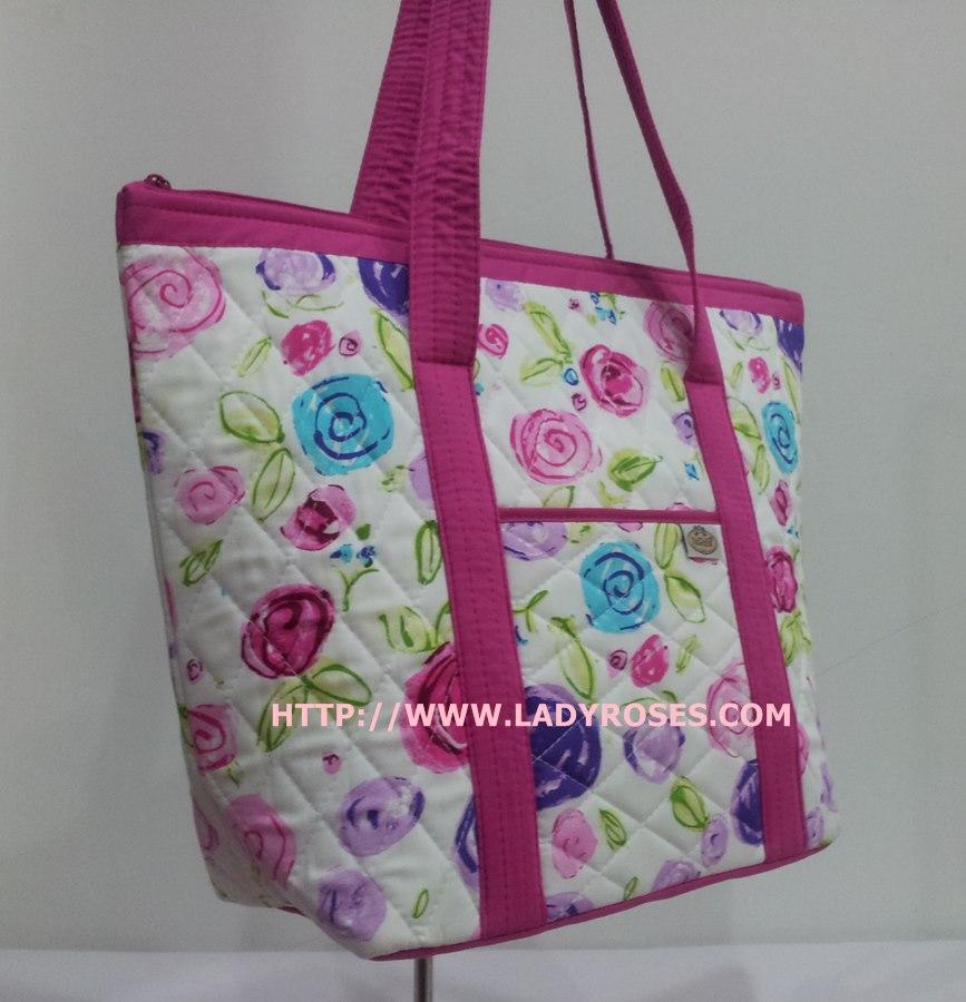 กระเป๋าสะพาย นารายา ผ้าคอตตอน พื้นสีขาว ลายดอกไม้ หลากสี มีช่อง ใส่โทรศัพท์ ด้านหน้า (กระเป๋านารายา กระเป๋าผ้า NaRaYa กระเป๋าแฟชั่น)