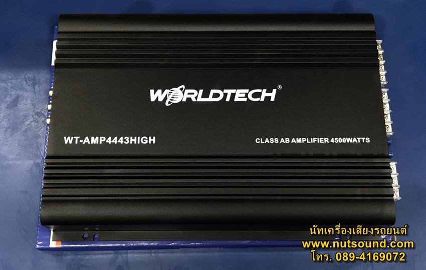 เพาเวอร์แอมป์รถยนต์ 4 CH 4500W ยี้ห้อ WORLDTECH