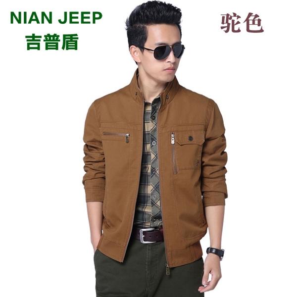 Pre-order เสื้อแจ็คเก็ตคอปก เสื้อกันหนาว แขนยาว สีคาเมล NIAN Jeep