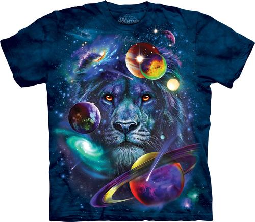 Pre.เสื้อยืดพิมพ์ลาย3D The Mountain T-shirt : Lion Of Cosmos T-Shirt