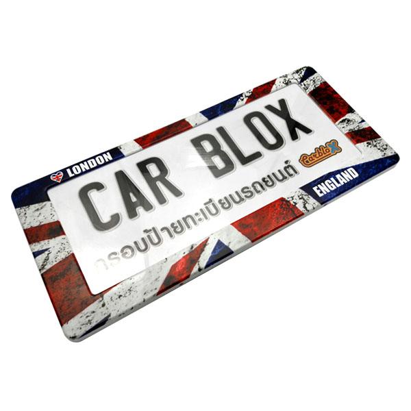 กรอบป้ายทะเบียนรถยนต์ (มีอะคริลิคใสปิดตรงกลาง) แบบสั้น 15.5 นิ้ว ลายอังกฤษ LONDON ENLAND.