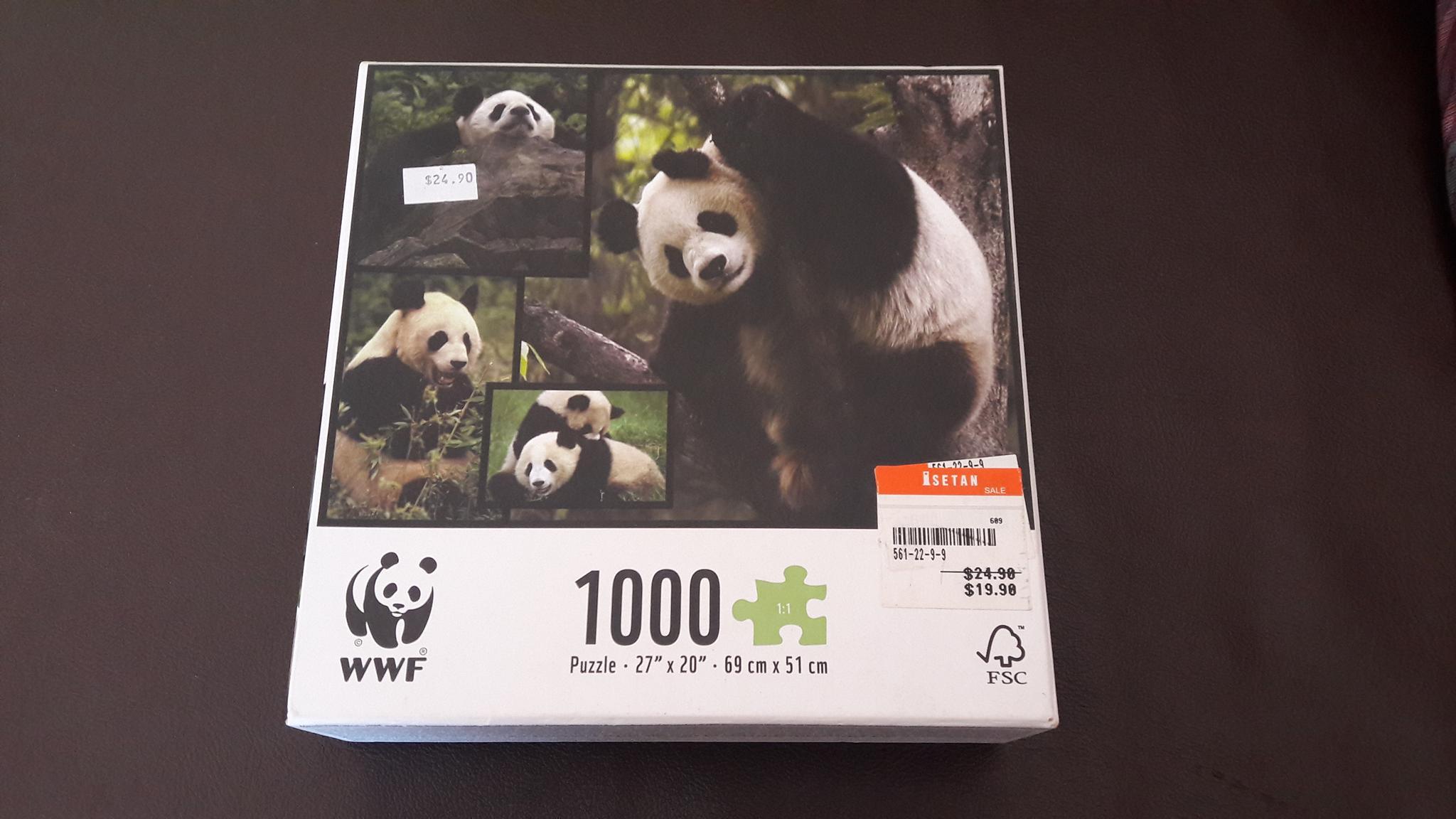 จิ๊กซอว์ 1,000 ชิ้น หมีแพนด้า