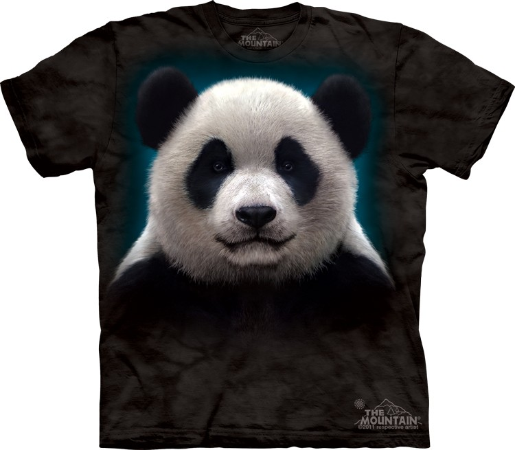 Pre.เสื้อยืดพิมพ์ลาย3D The Mountain T-shirt : Panda Head