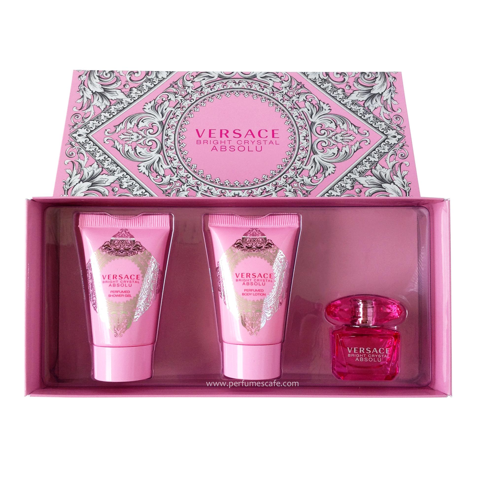 เซ็ตน้ำหอม Versace Bright Crystal Absolu Mini Gift Set