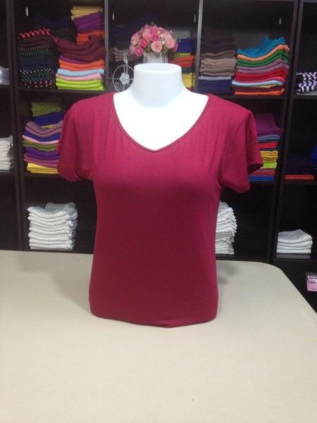 """เสื้อยืด size""""L"""" สีแดงโรส"""