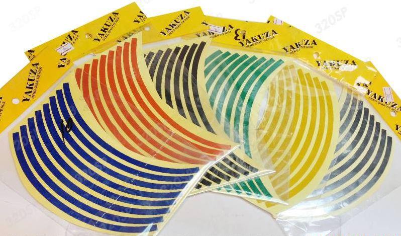 สติ๊กเกอร์ (Sticker) ติดขอบล้อ 12 นิ้ว สะท้อนแสง