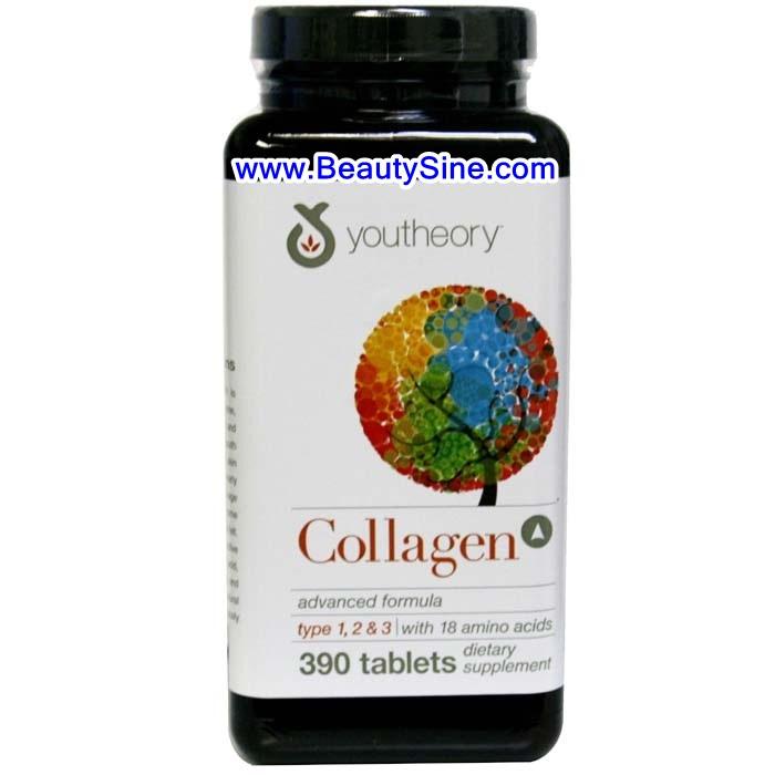 Youtheory Collagen Advanced Formula 390 Tablets คอลลาเจนจากอเมริกา ช่วยลดริ้วรอย ให้ผิวนุ่มชุ่มชื้นขึ้น
