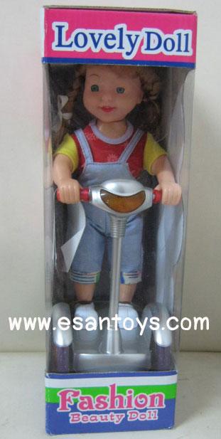 ตุ๊กตาขี่สกู๊ตเตอร์ใส่ถ่าน