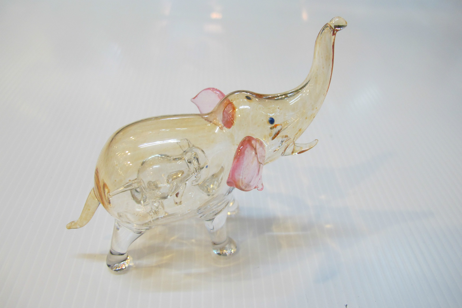 ช้างแก้วเป่า 2 in 1 Glass Figurine Elephant 2 in 1