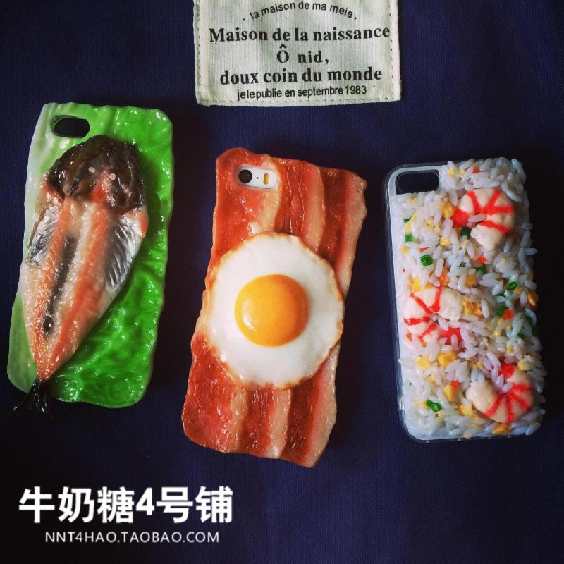 เคสไอโฟน 6/6S/5/5S เคส TPU สไตล์ iFan คนรักอาหารข้าวผัด/เบคอนไข่ดาว/ปลา