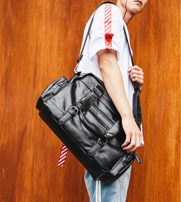 Pre-order กระเป๋าผู้ชายนักธุรกิจ ใส่เอกสาร ใส่คอม14 นิ้ว กระเป๋าสะพายเดินทาง กระเป๋านักธุรกิจแฟขั่นเกาหลี รหัส Man-9894 สีดำ