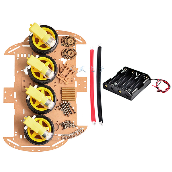 4WD Smart Car Chassis Kit with Speed Encoder