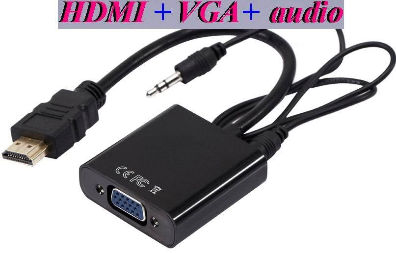HDMI to VGA with Audio Cable