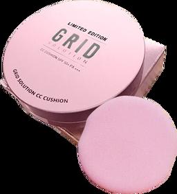 Grid Solution CC Cushion SPF 50+ PA+++ กริด โซลูชั่น ซีซี คุชชั่น แป้งน้ำแร่จากเกาหลี พร้อมกันแดด เนื้อบางเบา เนียน ไม่โบ๊ะ ออร่าเป็นธรรมชาติ สวยจบในตลับเดียว!